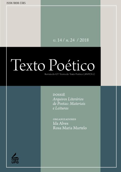 Visualizar v. 14 n. 24 (2018): Dossiê Arquivos Literários de Poetas: Materiais e Leituras